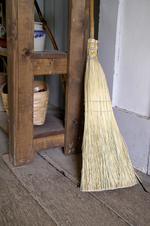 Make your daily chores magickal - use your broom and sweep the negative energy out the back door!