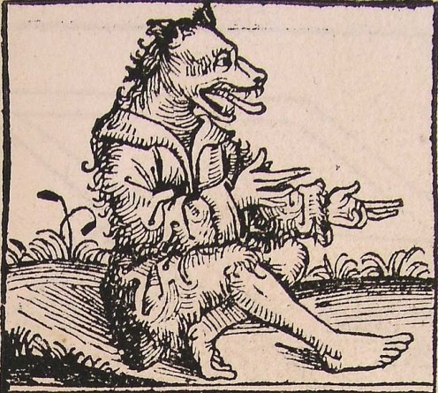 Man with a dog head.-Author:Hartmann Schedel (1440-1514),