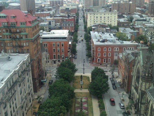 From within the Washington Monument, Baltimore City, Maryland