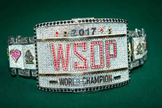 WSOP main event bracelet from 2017.