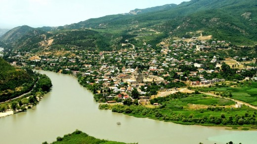 Mtskheta is one of the oldest Georgian towns not far from Tbilisi (see below)