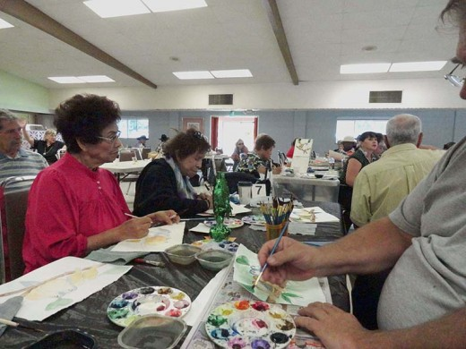 A painting class.
