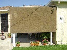Here is the simplest type of drop roll patio shade. Photo by http://www.flickr.com/photos/brian_keith/936217407/