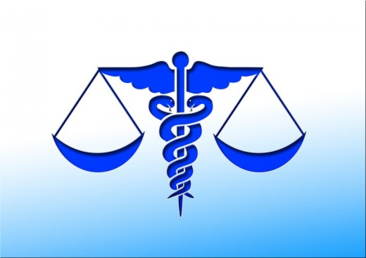 The Staff of Asclepius has only one snake. The version with two snakes and wings is Hermes' staff.