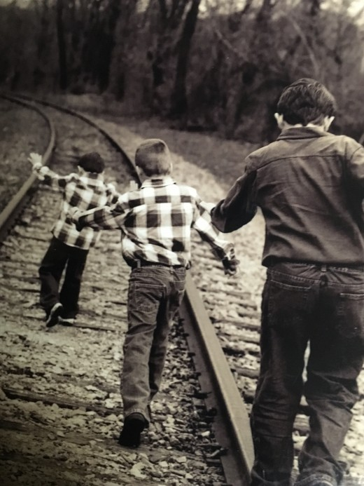 My nephews. Full disclosure: No worries...abandoned track :-)