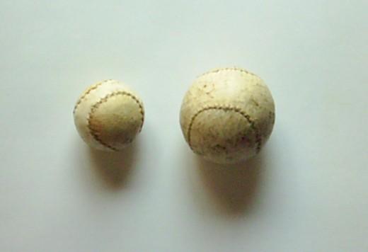 Balls used to play handball.
