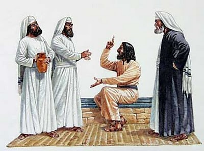 Christ rebuked the religious leaders.