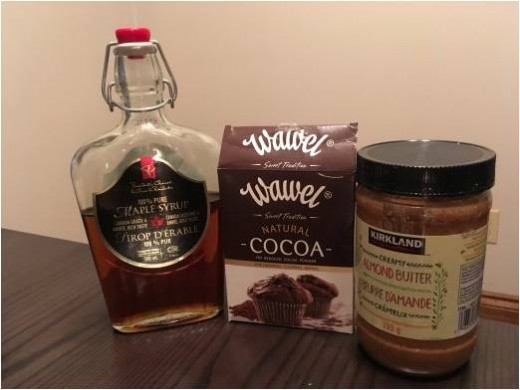 Ingredients used in the chocolate spread