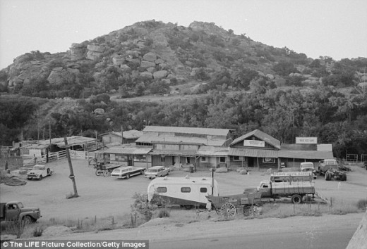 Spahn Ranch where the Manson family hid out during 1969.