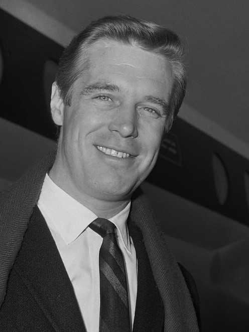 George Peppard, film and TV star. Like Sinatra, when he entered the room, everyone looked at him to see what he was going to say.