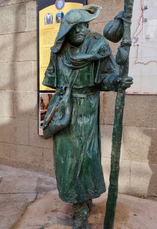 The Pilgrim in Santiago de Compostela