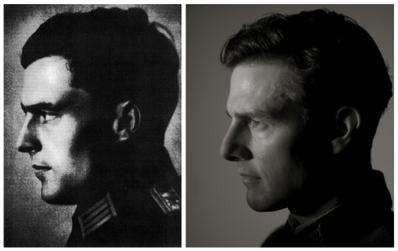 Oberst Claus von Stauffenberg left, and Tom Cruise right.