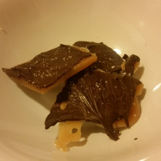 The finished product: Beautiful sea salt toffee.