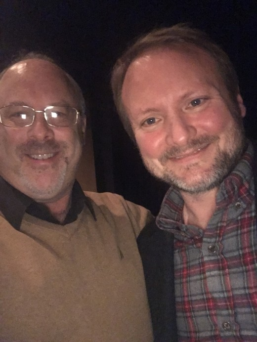 "I've been obsessed with ""Star Wars"" since the first film's release in 1977. I'm here with ""The Last Jedi"" director Rian Johnson in December of 2017, celebrating his birthday at a Writer's Guild screening."