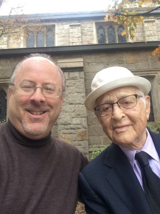 "With then-94-years-young (and still going strong) Norman Lear, creator of ""All in the Family,"" ""Good Times,"" ""The Jeffersons,"" ""One Day at a Time,"" and more. One of my heroes."