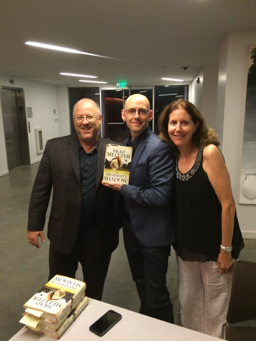 With Lorie, and old family friend (and New York Times' bestselling author many times over) Brad Meltzer, at one of his book signings.