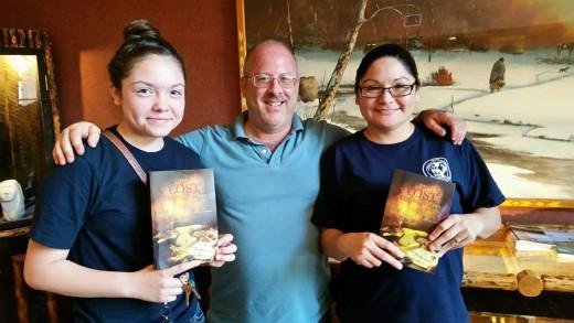 With two friends in Pine Ridge, South Dakota.
