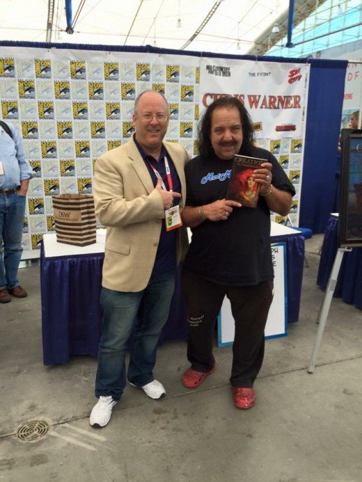 "Even porn star Ron Jeremy has promoted my work. Why not? Here at 2016's San Diego's Comic Con International, where I was signing ""The Chronicles of Ara."""