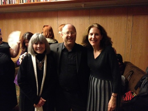 With two of my very favorite people, Lorie (right) and Anne Rice.