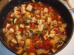 Easy tofu and vegetable soup