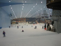 Indoor ski slope at the Mall of the Emirates
