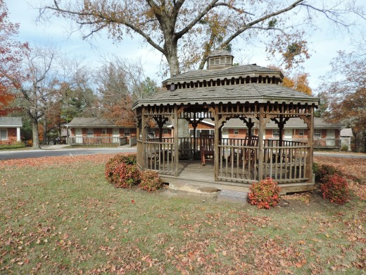 Residents can enjoy this gazebo for picnics and other individual or community events.