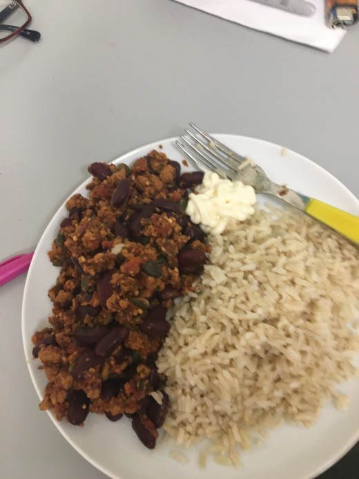 Vegan chilli con carne (a great post-club meal!)