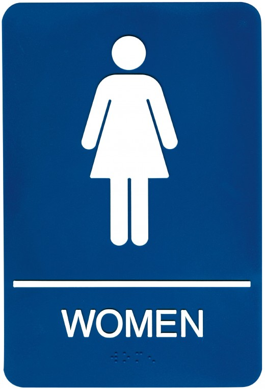 Sometimes a woman just has to go to the bathroom