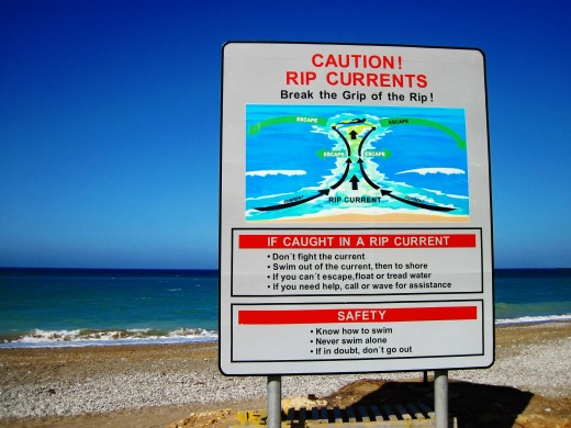 Rip Tide Safety Information.