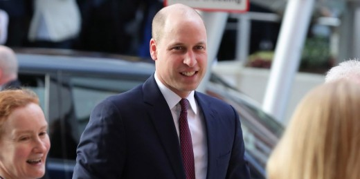 Prince William's shaved head in 2018.