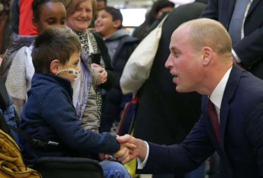 Prince William at children's hospital