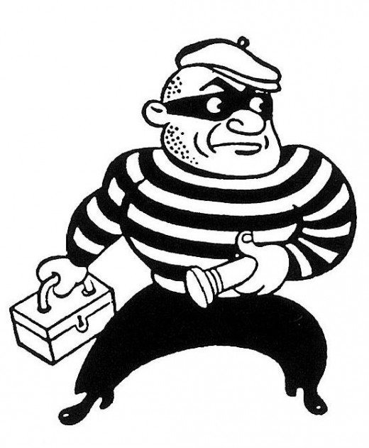 Our hero, the Old Fashioned Burglar.