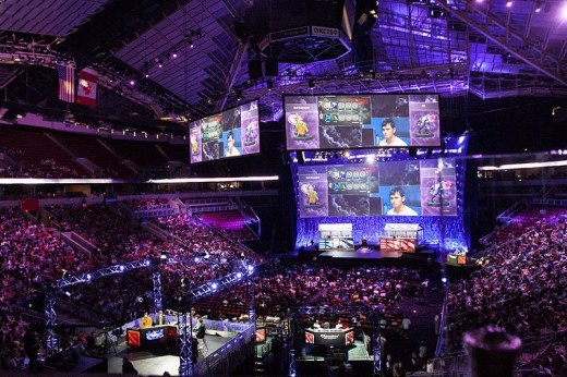 A Dota 2 tournament at the KeyArena in Seattle