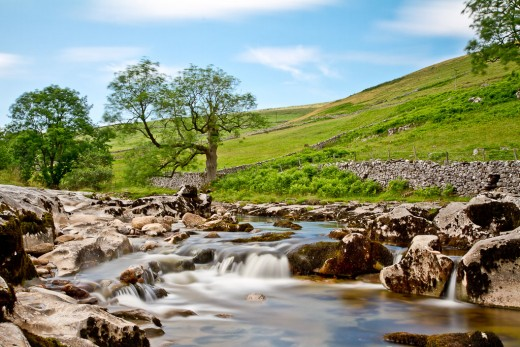 Another aspect of the River Wharfe in this quiet district