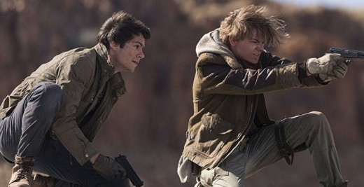 Maze Runner: The Death Cure film still (Thomas and Newt).