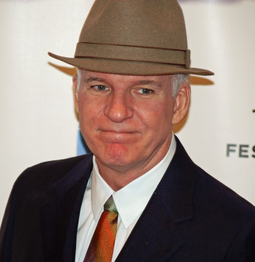 Steve Martin is surprisingly quiet and serious.