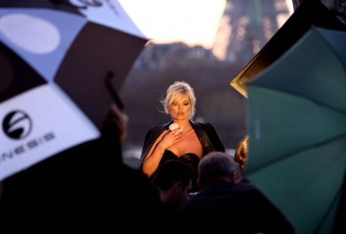 Behind the Scenes at YSL Parisienne Photoshoot