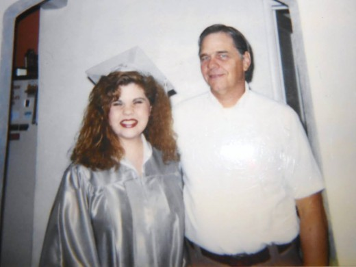 Dad and I Graduation Day
