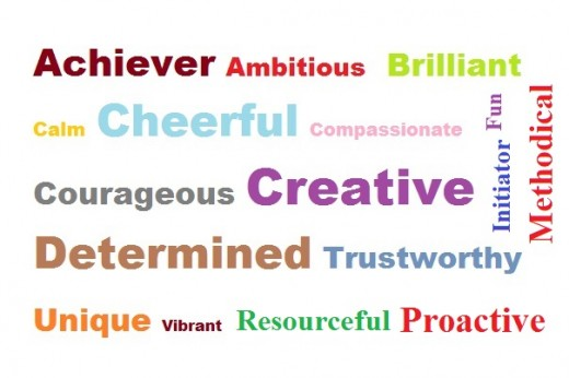 words to describe yourself