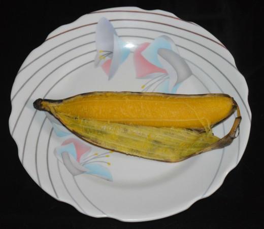 Steamed Nendra Banana