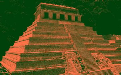 These temples stored large amounts of precious metals. The Wealth of the Spanish Main started with their destruction.