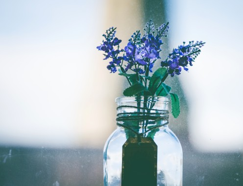You can create a vase from any item in your home.