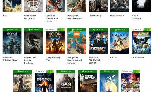 Some of the games featured on Xbox Game Pass