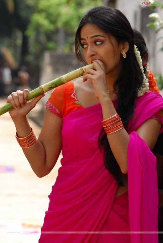 Or in this shocking pink one. Biting into a sugarcane stick never looked more sensual