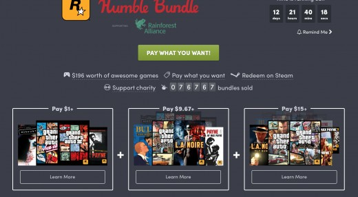 One of Humble Bundle's deals