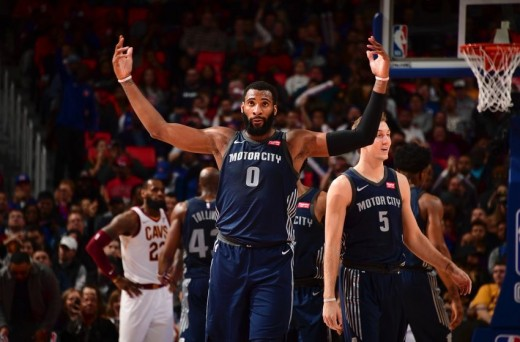 Andre Drummond scored 21 points, grabbed 22 rebounds, dished out seven assists, and added three steals and three blocks in Tuesday's victory over the Cavaliers