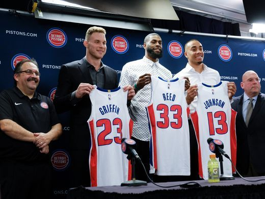 Pistons welcome Blake Griffin, Willie Reed, and Brice Johnson to Detroit
