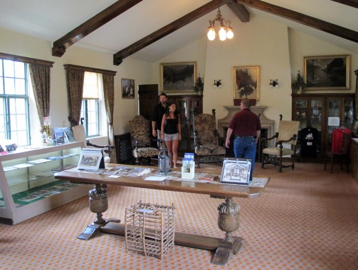 Visitors in a room of the Castle during Curwood Festival