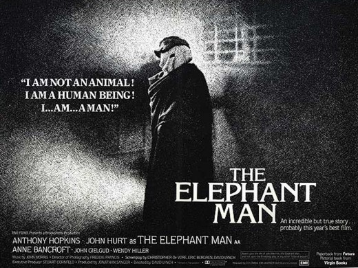 """A classic quote from David Lynch's classic 1980 film version of """"The Elephant Man."""""""