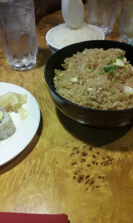 delicious fried rice served at Asahi Japanese Restaurant and Steakhouse in Greensboro, NC